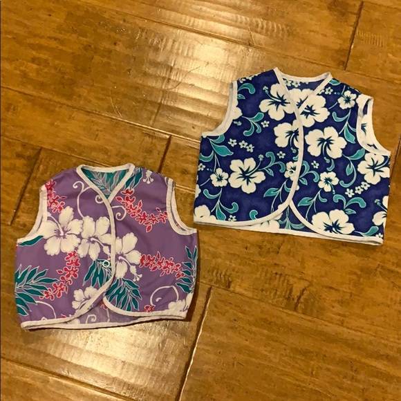 Hawaiian print diaper shirts